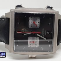 TAG Heuer Monaco Acier 39mm Noir Sans chiffres