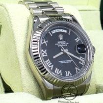 Rolex Day-Date II 41mm Black Roman numerals