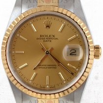 Rolex 18kt Yellow Gold And Steel Date