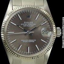 Rolex Datejust Mid-size 18k White Gold Grey Dial Ref 6824