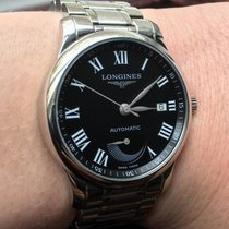 Longines Steel Automatic Black Roman numerals 38,5mm new Master Collection