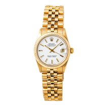 Rolex Datejust 68278 18k Solid Yellow Gold Jubilee Band White...