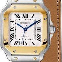 卡地亚 W2SA0007 Santos Medium Gold & Steel 2 Interchangeable straps
