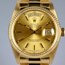Rolex Day-Date 36 Or jaune 36mm Champagne Romain
