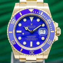 Rolex 116618LB Submariner 18K Yellow Gold Blue Dial (29619)