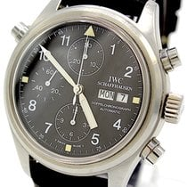IWC Pilot Double Chronograph Acero 42mm Negro