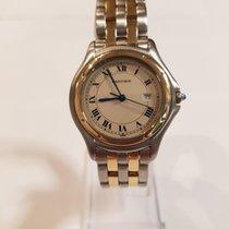 Cartier Cougar usados 33mm Champán Fecha Acero y oro