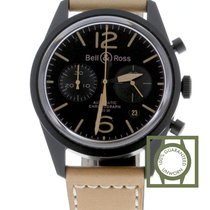 Bell & Ross BR 126 Heritage Chronograph Steel PVD Case Black...