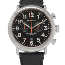 Shinola Chronograph 47mm Quartz new Black
