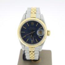 Rolex Lady-Datejust Or/Acier 26mm Bleu Sans chiffres