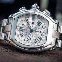 Cartier Chronograf 43mm Automatyczny używany Roadster Srebrny
