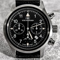 IWC Pilot Chronograph Ατσάλι 36mm Μαύρο Αραβικοί