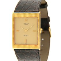 Rolex Cellini pre-owned 24mm Gold Leather