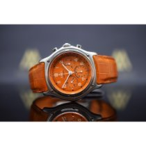 Ebel Le Modulor gebraucht 40mm Orange Chronograph Datum Leder