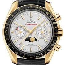 Omega Or jaune Remontage automatique Argent 44.2mm nouveau Speedmaster Professional Moonwatch Moonphase