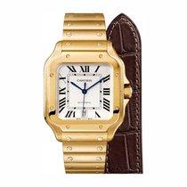 Cartier Santos (submodel) Жёлтое золото 39.8mm Cеребро Римские
