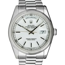 Rolex Blanc 36mm occasion Day-Date 36