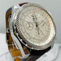 Breitling Bentley 6.75 tweedehands 48mm Wit Chronograaf Datum Krokodillenleer