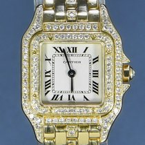 Cartier occasion Quartz 22mm Blanc Verre saphir
