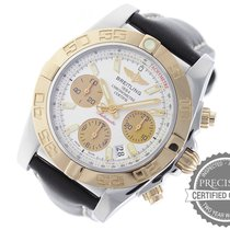 Breitling Chronomat 41 pre-owned 41mm Silver Chronograph Date Leather