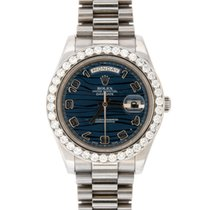 Rolex Day-Date II White gold 41mm Blue Arabic numerals United States of America, New York, New York