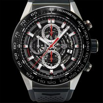 TAG Heuer Carrera Calibre HEUER 01 Titanium 45.00mm Transparent United States of America, California, San Mateo