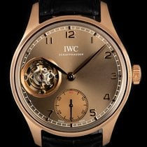IWC Portuguese Tourbillon Aur roz 43mm Arabic