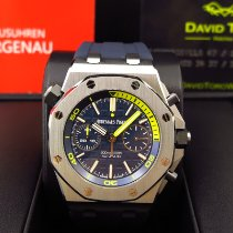 Audemars Piguet Royal Oak Offshore Diver Chronograph Stahl 42mm Blau Keine Ziffern