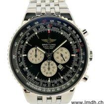 Breitling Navitimer Heritage gebraucht Schwarz Chronograph Datum Jahresanzeige Tachymeter Stahl