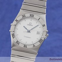 Omega Constellation Day-Date pre-owned 32.5mm Silver Date Steel