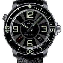 Blancpain 500 Fathoms nuevo 2021 Automático Reloj con estuche y documentos originales 50015 12B30 52B