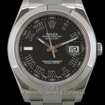 Rolex Datejust II Steel 41mm Grey Roman numerals
