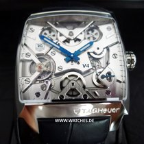 TAG Heuer Monaco V4 Platin 40.5mm Transparent