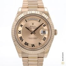 Rolex Day-Date II Rose gold 41mm Gold Roman numerals