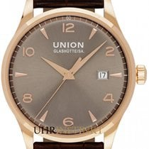 Union Glashütte Rose gold Automatic Grey 40mm new Noramis Gold