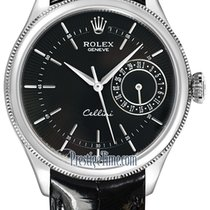 Rolex Cellini Date Oro blanco 39mm Negro