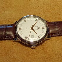 Omega DE VILLE PRESTIGE CO- Axial .Steel Case,Leather Strap