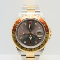 Rolex GMT-Master II Root Beer / Tiger Eye Ruby Diamond Dial