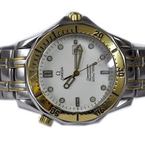 Omega Seamaster Diver 300 M Ouro/Aço 41mm Branco Brasil, 22410000