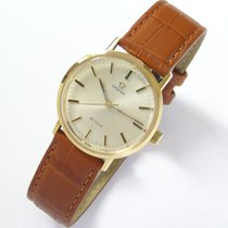 Omega De Ville pre-owned 33,4mm Silver Leather