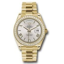 Rolex Day-Date 40 Yellow gold 40mm Silver Roman numerals United States of America, Pennsylvania, Holland
