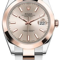 Rolex Datejust II Steel and Rose Gold Sundust Stick Dial 41mm