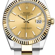 Rolex Datejust 41 Steel and Yellow Gold Champagne Stick 126333...