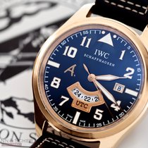 IWC Rose gold Automatic Brown Arabic numerals 44mm pre-owned Pilot