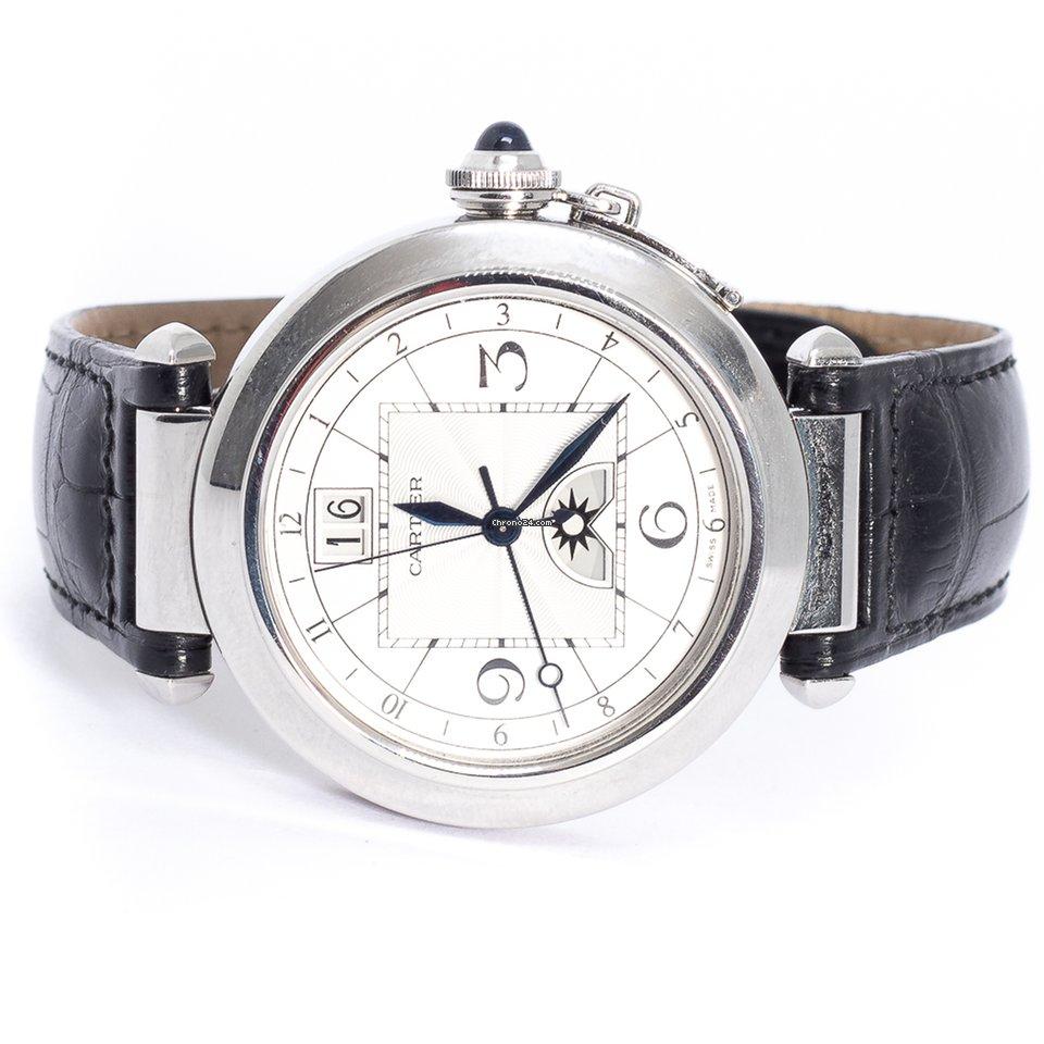 11b65039fd5 Cartier Pasha Aço - Todos os preços de relógios Cartier Pasha Aço na  Chrono24