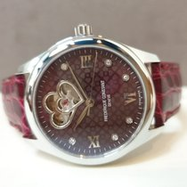 Frederique Constant Ladies Automatic Double Heart Beat Steel 36mm Bordeaux Roman numerals