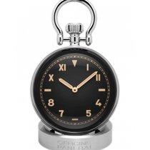 Panerai Table Clock Steel Black