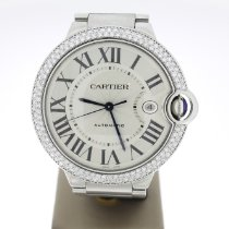 Cartier Ballon Bleu 42mm Staal 42mm Wit Romeins