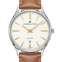 Hamilton Jazzmaster Thinline Steel 40mm White