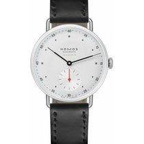NOMOS Metro Neomatik Steel 35mm White No numerals